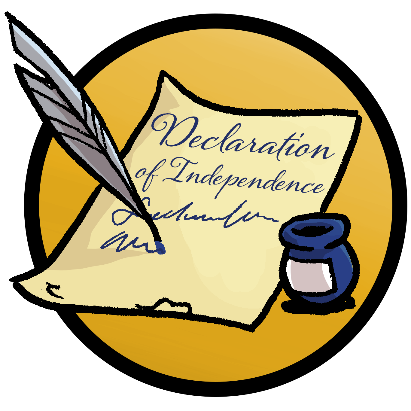 Emerald city advanced camp. History clipart declaration independence
