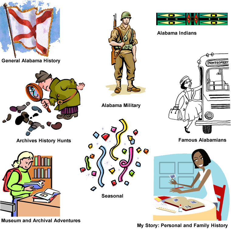 History clipart general information. Alabama department of archives