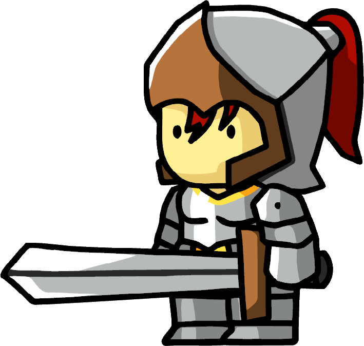 Knights clipart woman. Knight scribblenauts wiki fandom