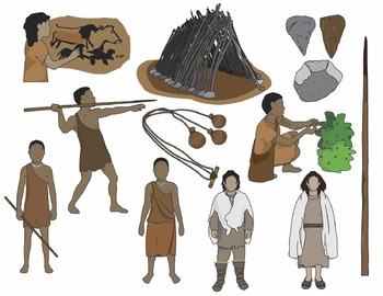 Hunting clipart stone age man. Early humans clip art