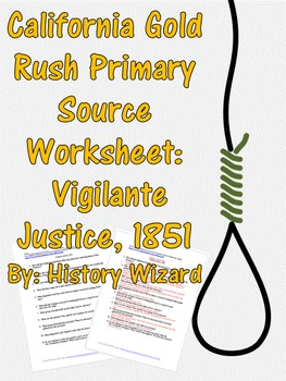 California gold rush worksheet. History clipart primary source
