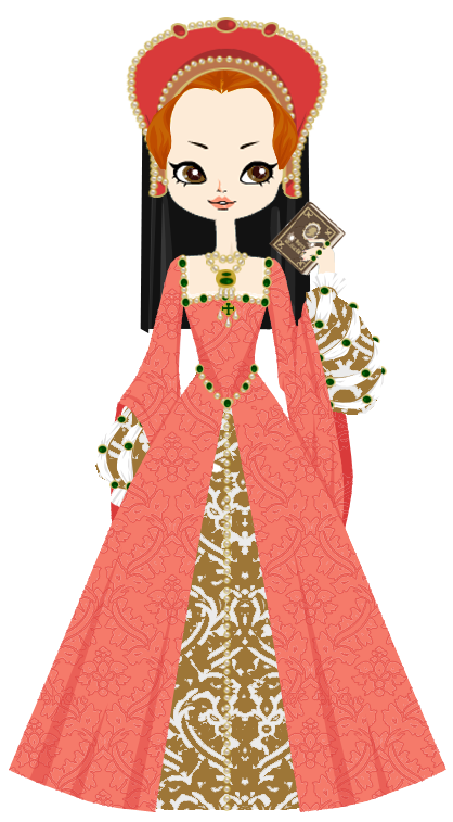 Lady elizabeth at years. History clipart tudor