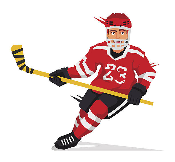 collection of player. Hockey clipart