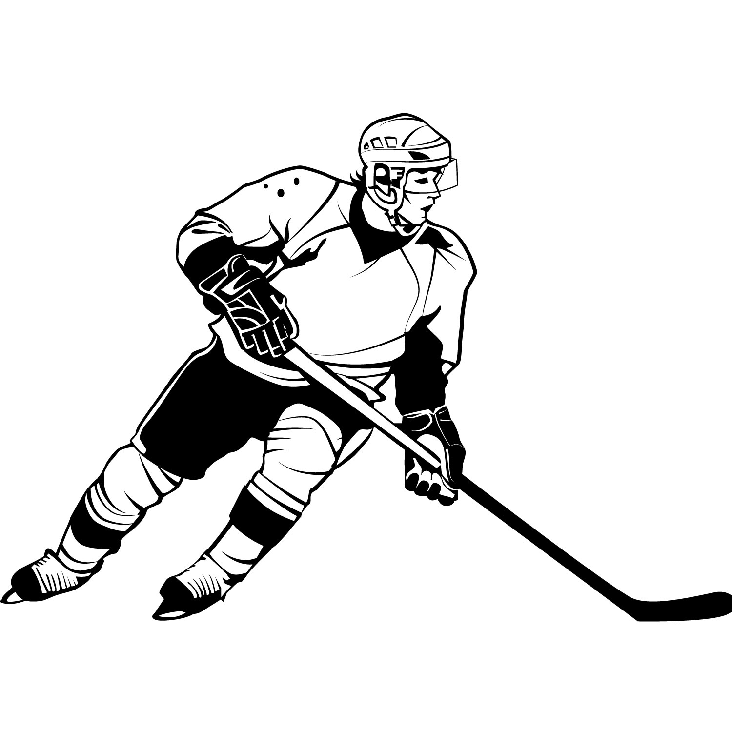 Ice player . Hockey clipart