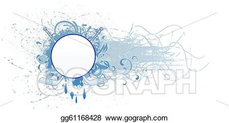 Eps illustration vector . Hockey clipart banner