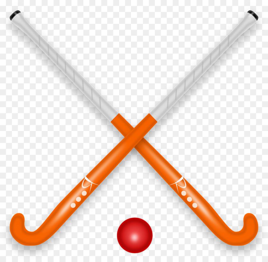 Cartoon orange line transparent. Hockey clipart bat