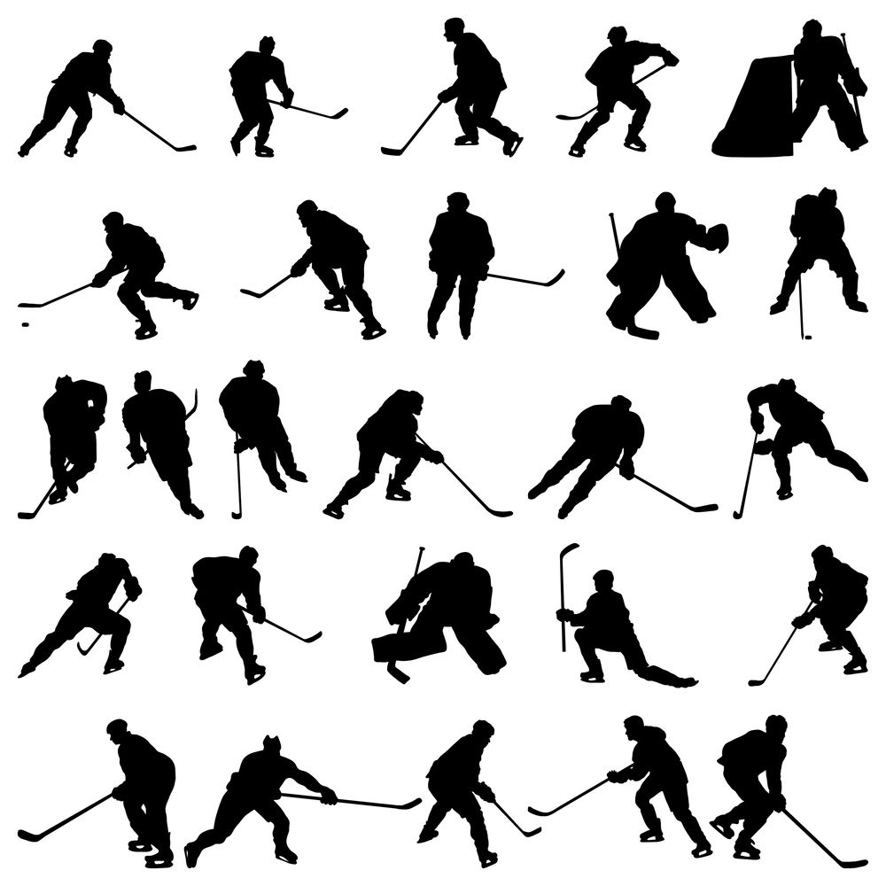 Big collection of vector. Hockey clipart crowd