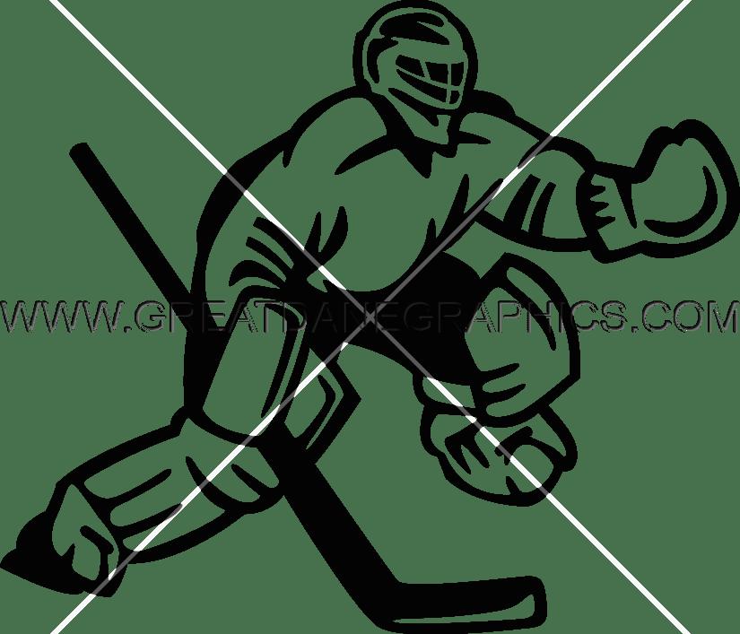 Goalie production ready artwork. Hockey clipart easy