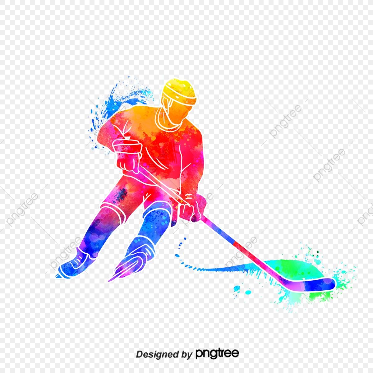 Hockey clipart english hockey. Silhouettes of creative ice