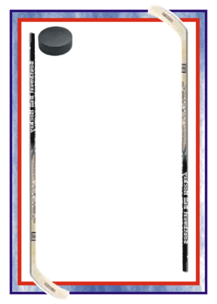 Download free png border. Hockey clipart frame