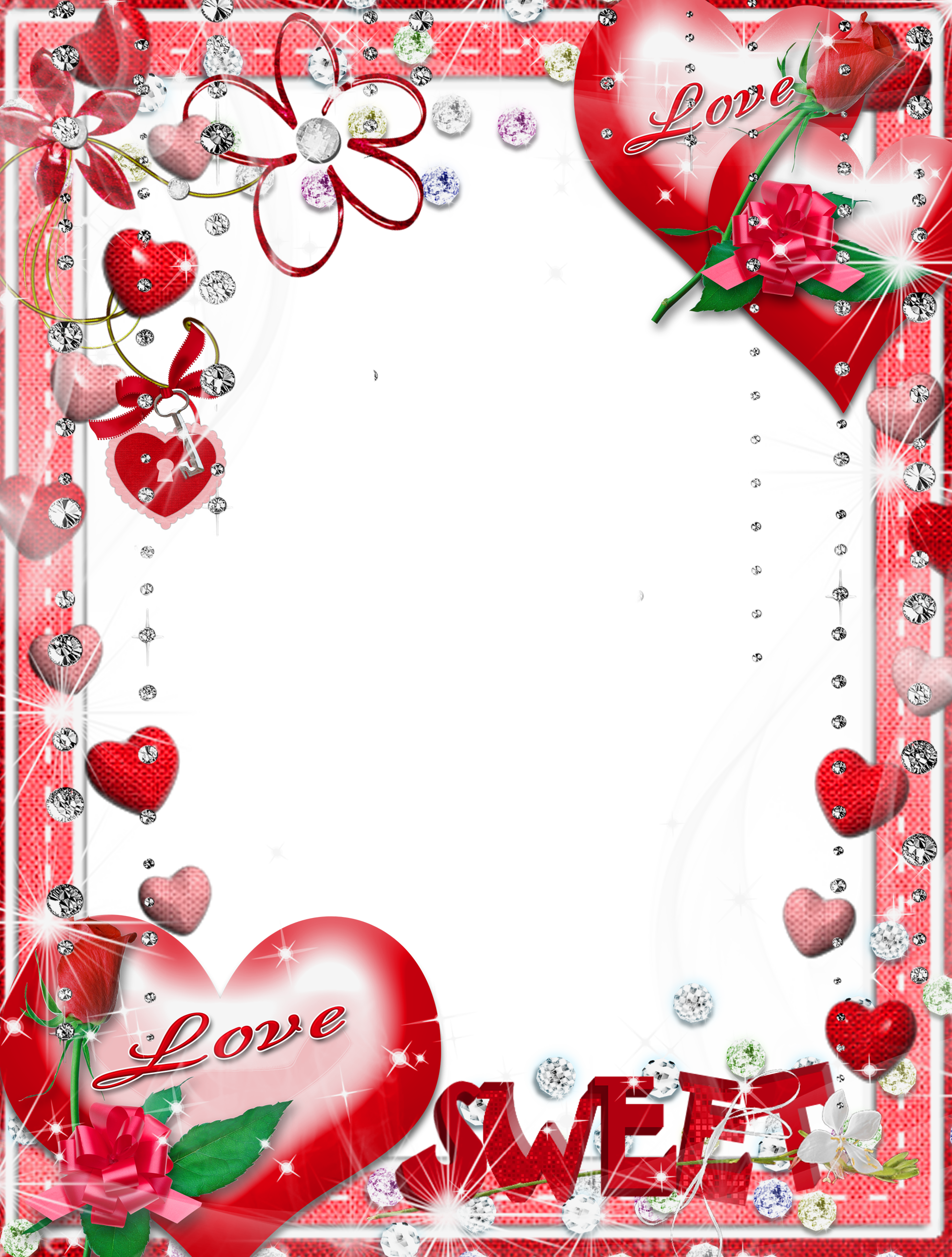 Love frame png. Sweet transparent photo gallery
