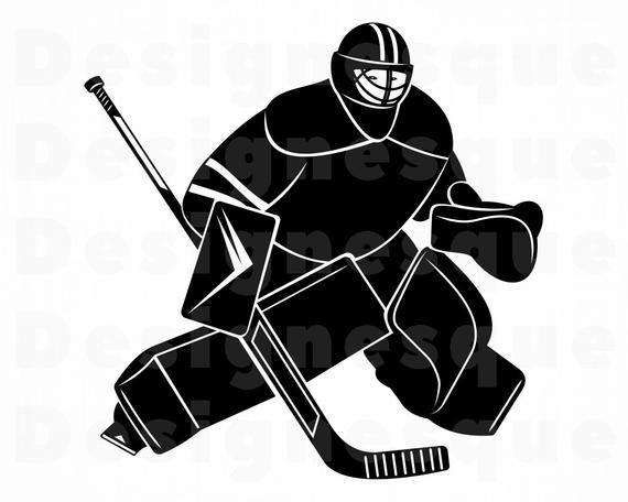 Goalie svg files for. Hockey clipart goaltender