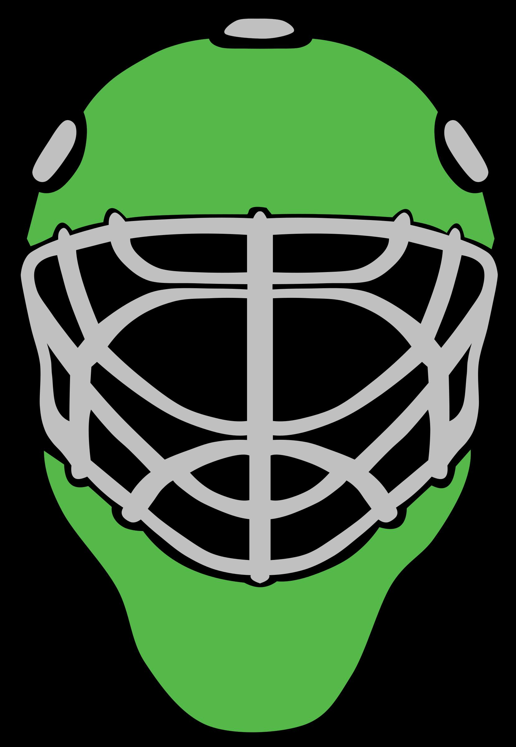 Hockey clipart goaltender. Goalie mask simple big