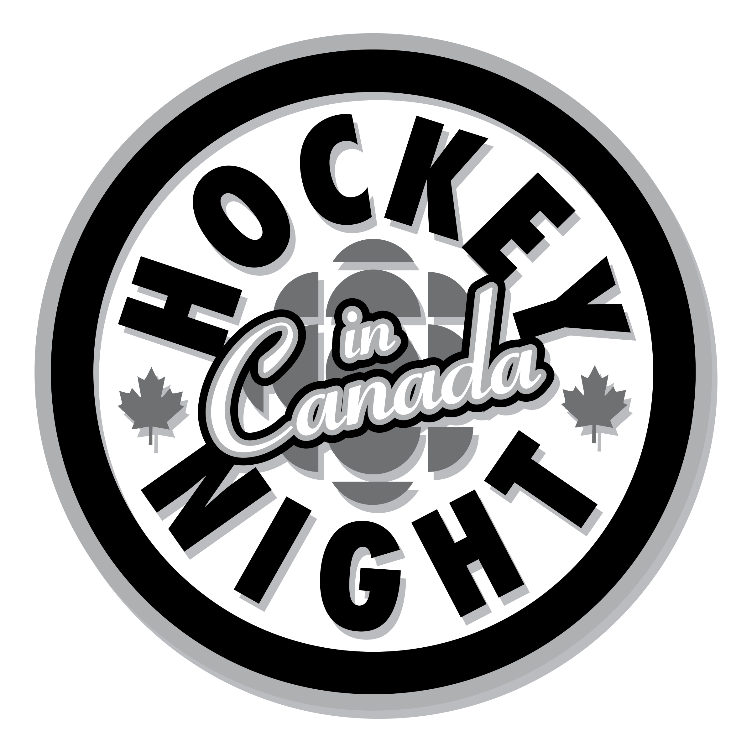 Night in logo png. Hockey clipart hockey canada