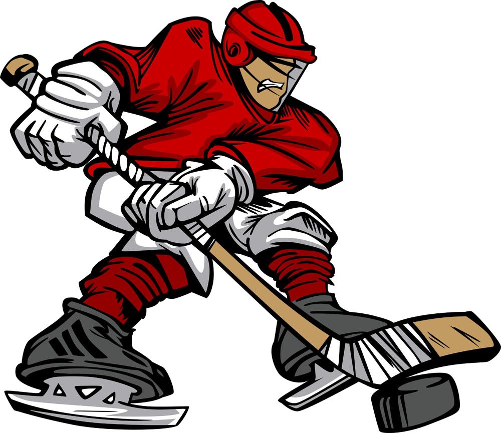 Hockey clipart hockey card. Ice player cartoon stick