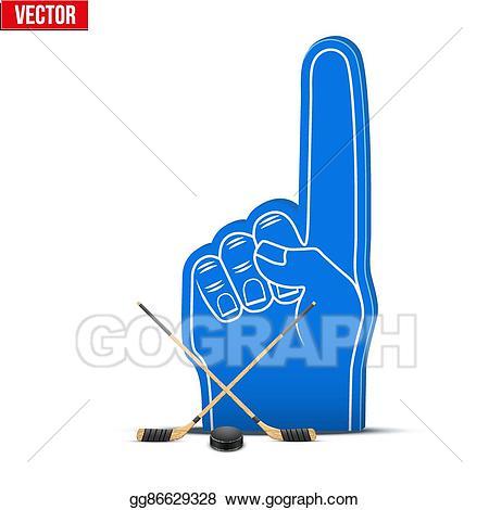 Vector ice sports foam. Hockey clipart hockey fan