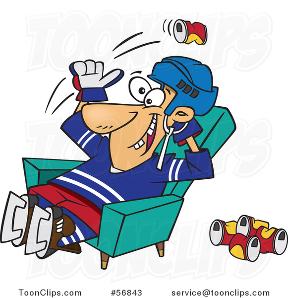 Hockey clipart hockey fan. Cartoon white player or