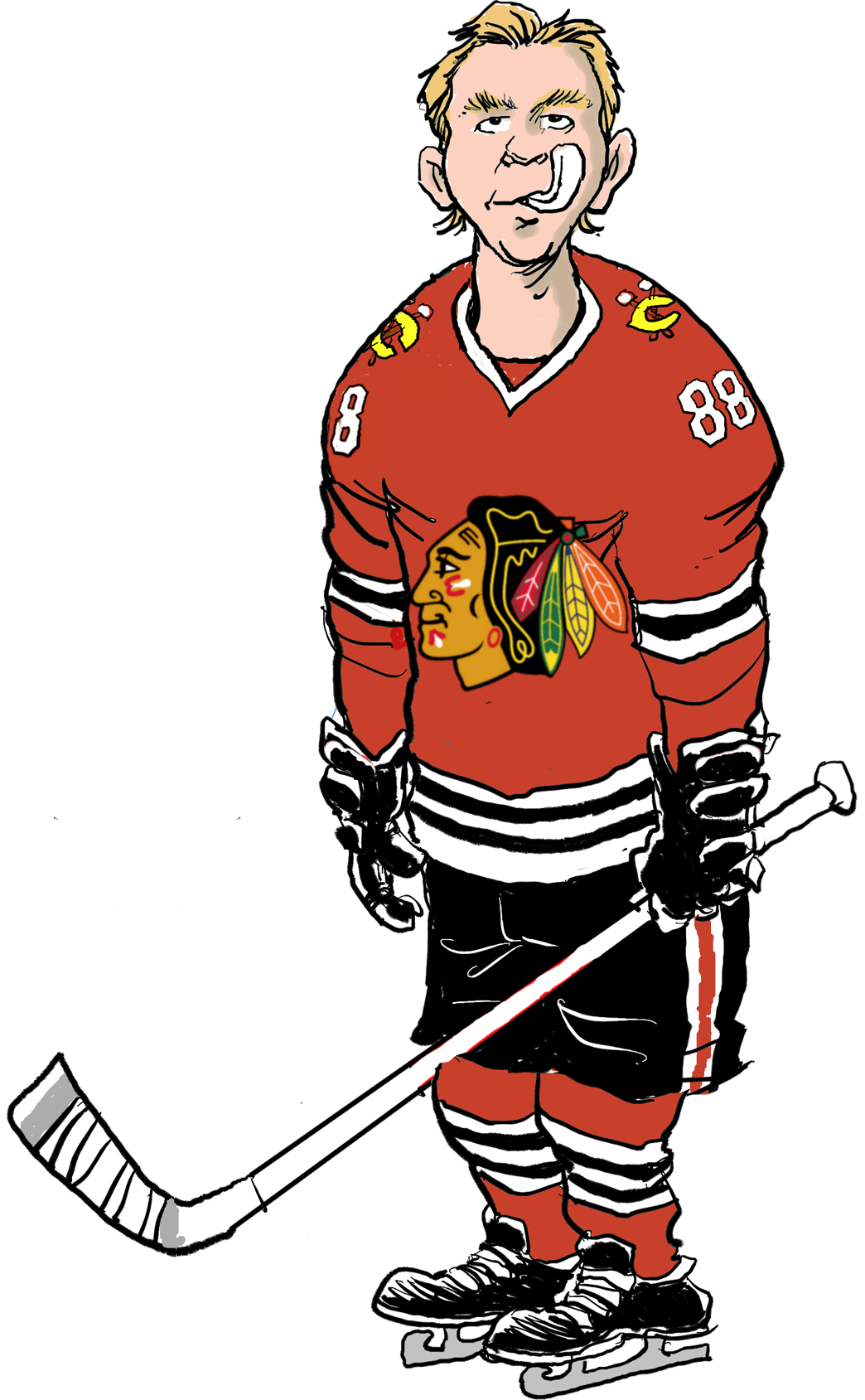 Hockey clipart hockey fan. Fakers guide blackhawks chicago