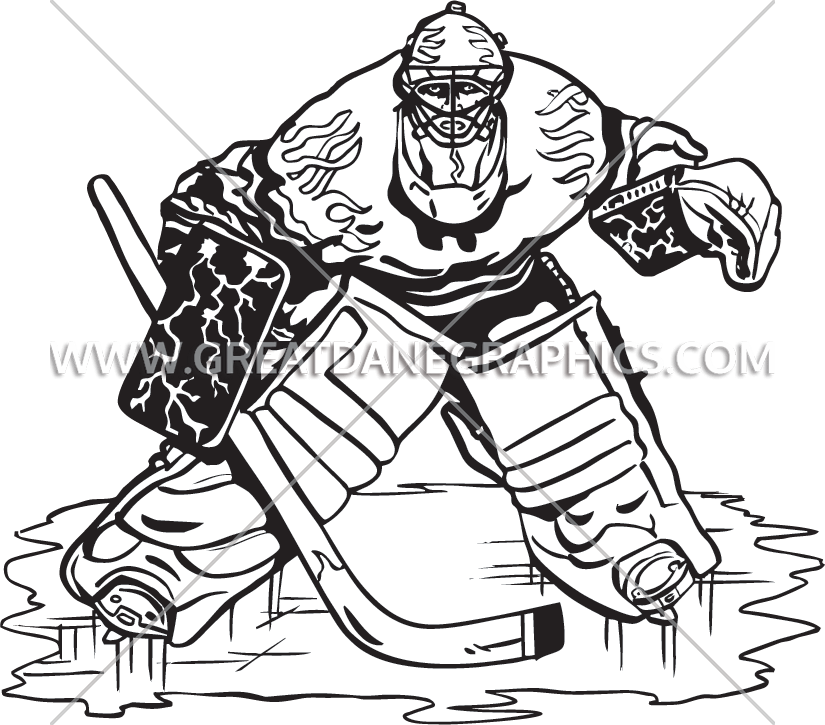 Hockey clipart hockey goalie. Production ready artwork for