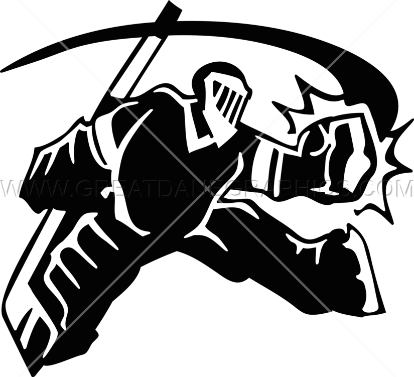 Save production ready artwork. Hockey clipart hockey goalie