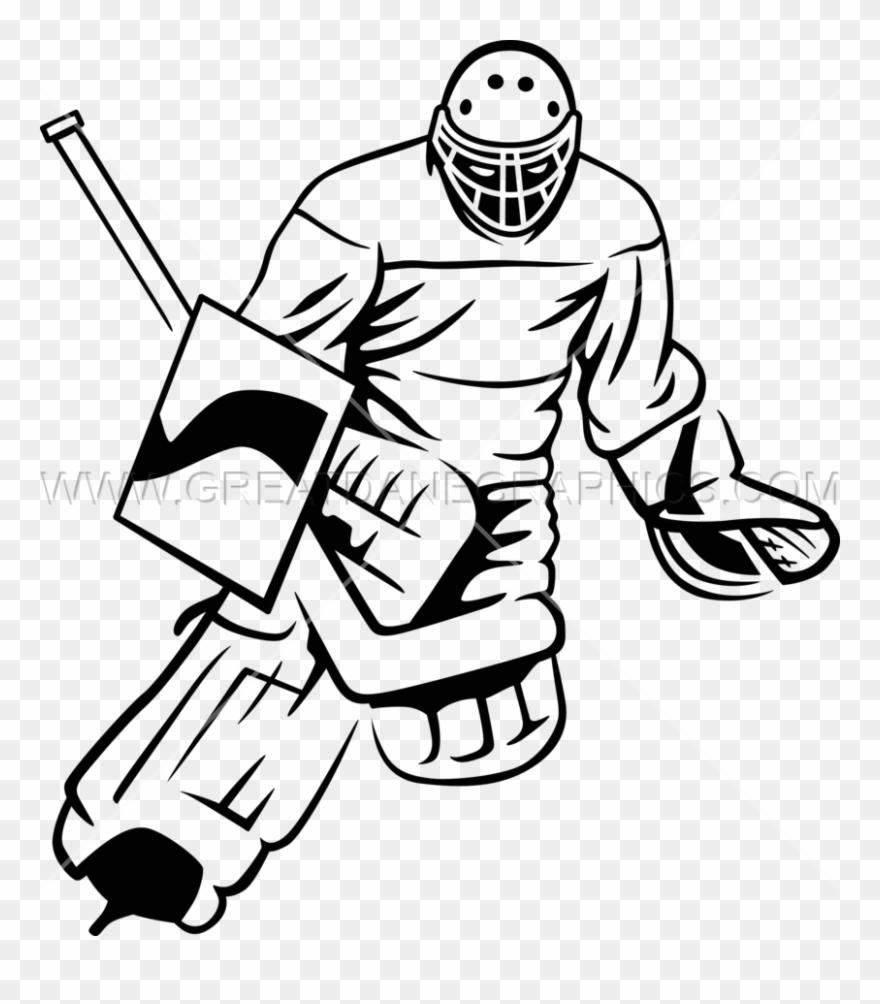 Catchu ice . Hockey clipart hockey goalie