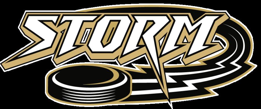 Hockey clipart hockey logo. Storm sledge