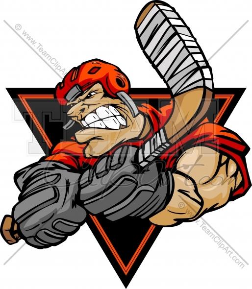 Hockey clipart hockey logo. Cartoon graphic image vector
