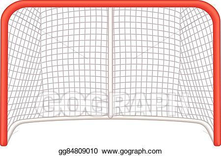Vector illustration goalie eps. Hockey clipart hockey net