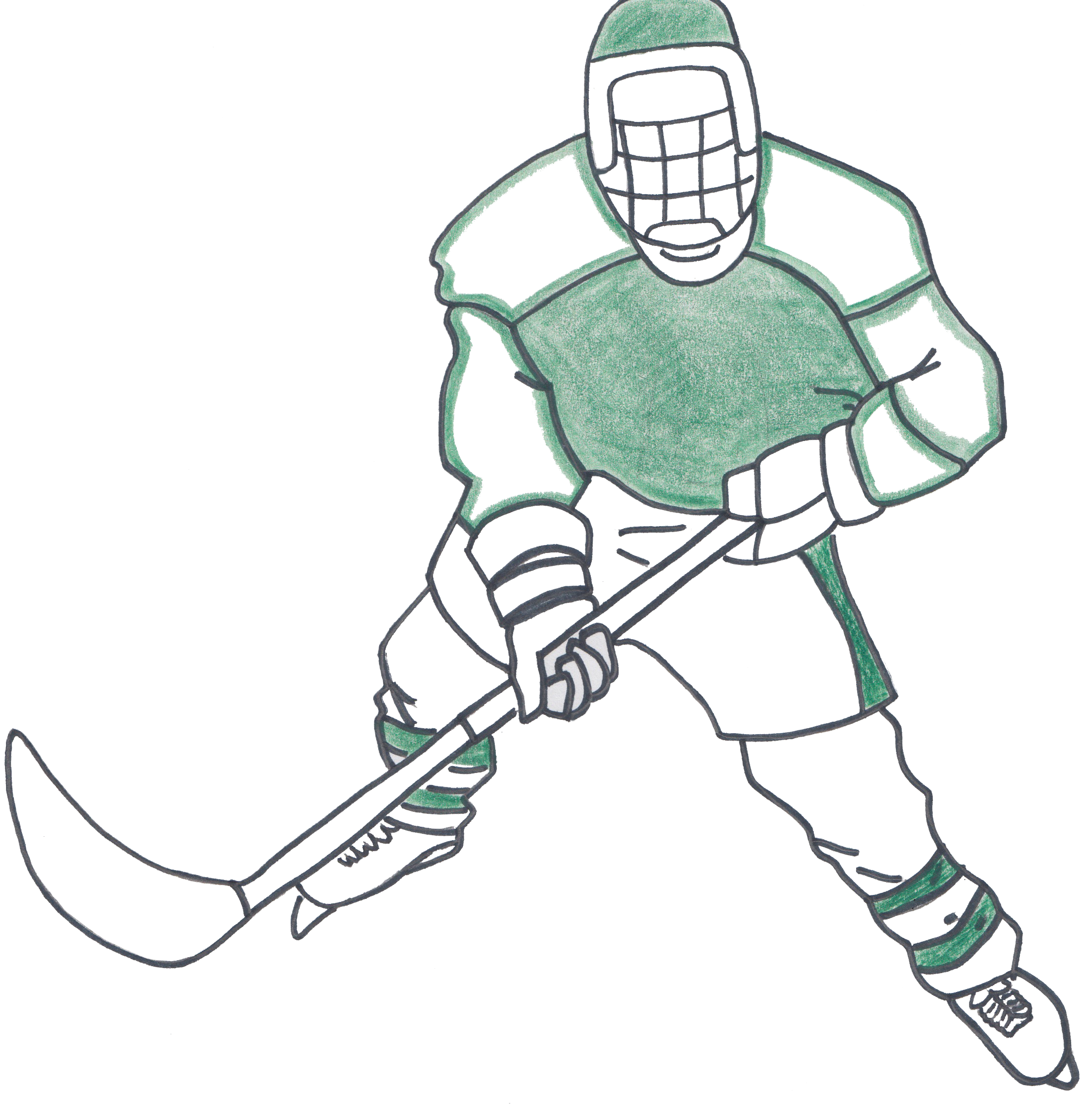 The deerfield scroll credit. Hockey clipart hockey practice
