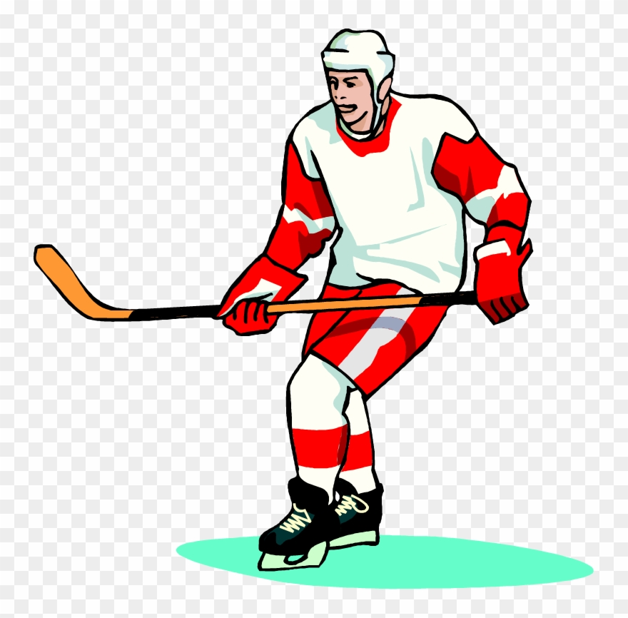 Hockey clipart hockey practice. Free player wearing a