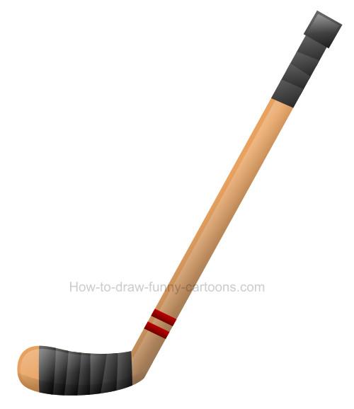 How to draw a. Hockey clipart hockey stick