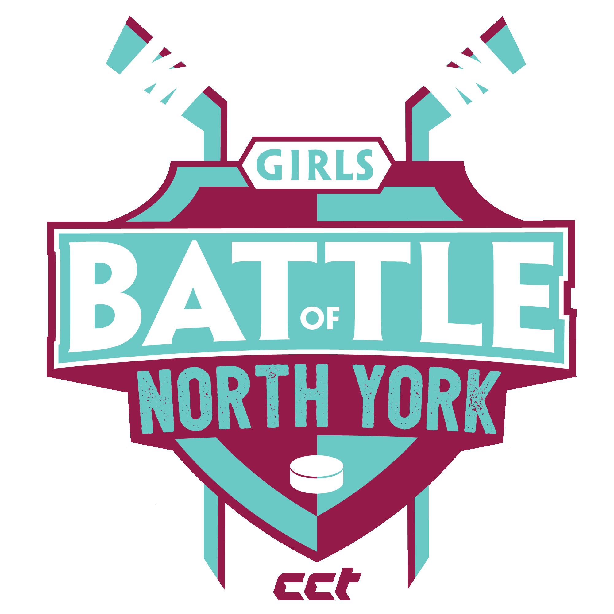 Hockey clipart hockey tournament. Girls battle of north