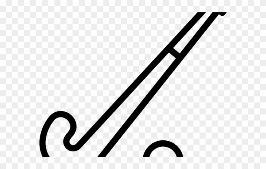 Clip field stick png. Hockey clipart line art