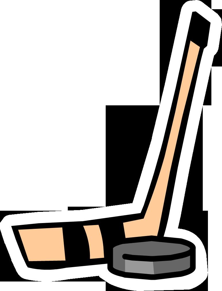 Stick puck cartoon clip. Hockey clipart line art