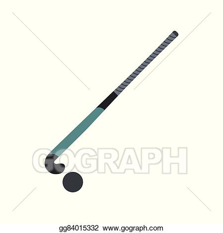 Vector illustration for field. Hockey clipart polo stick