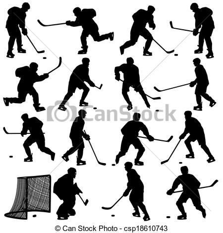 Hockey clipart printable. Free stencils isolated on