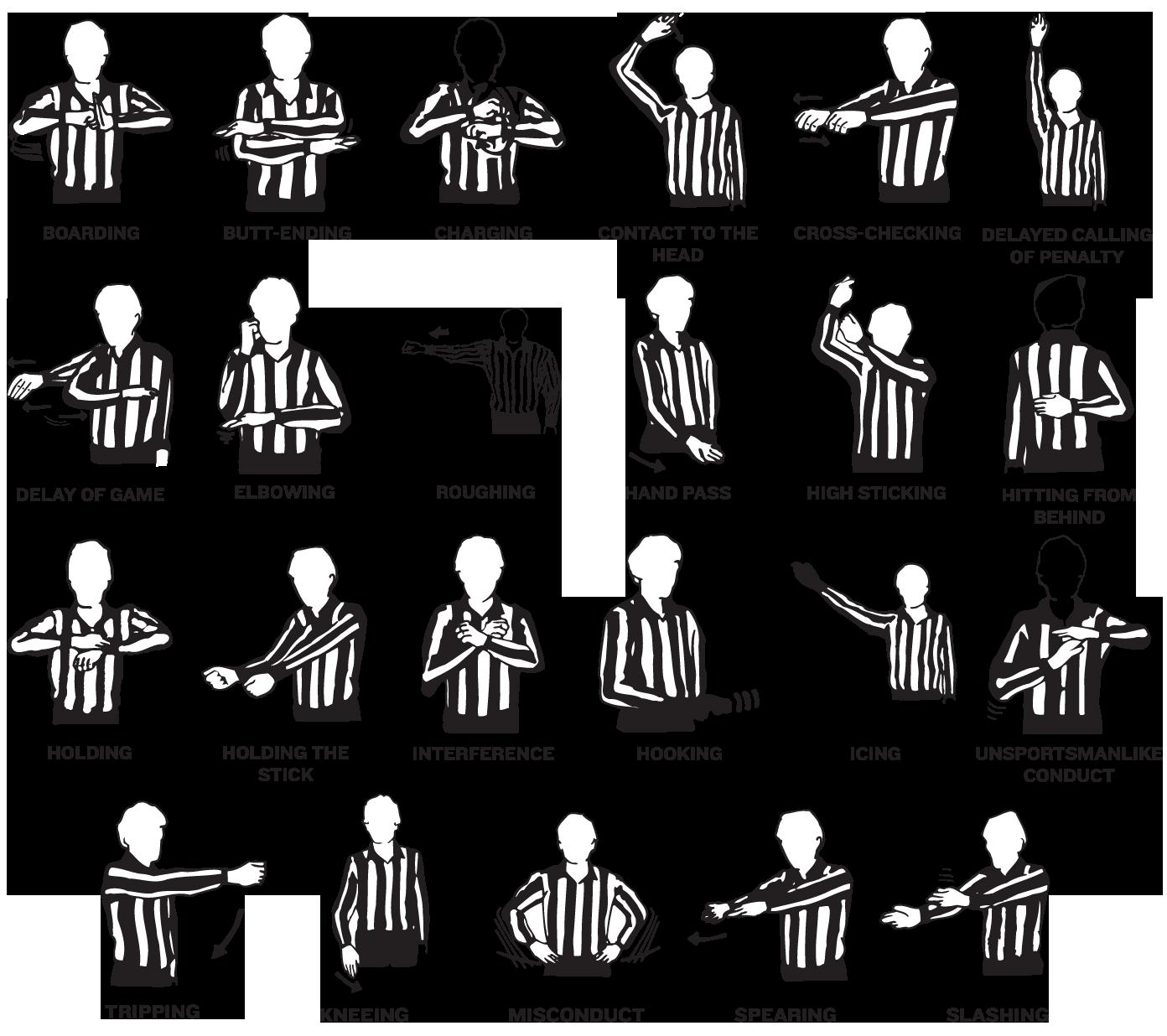 Hockey clipart ref. Basic referee penalty hand