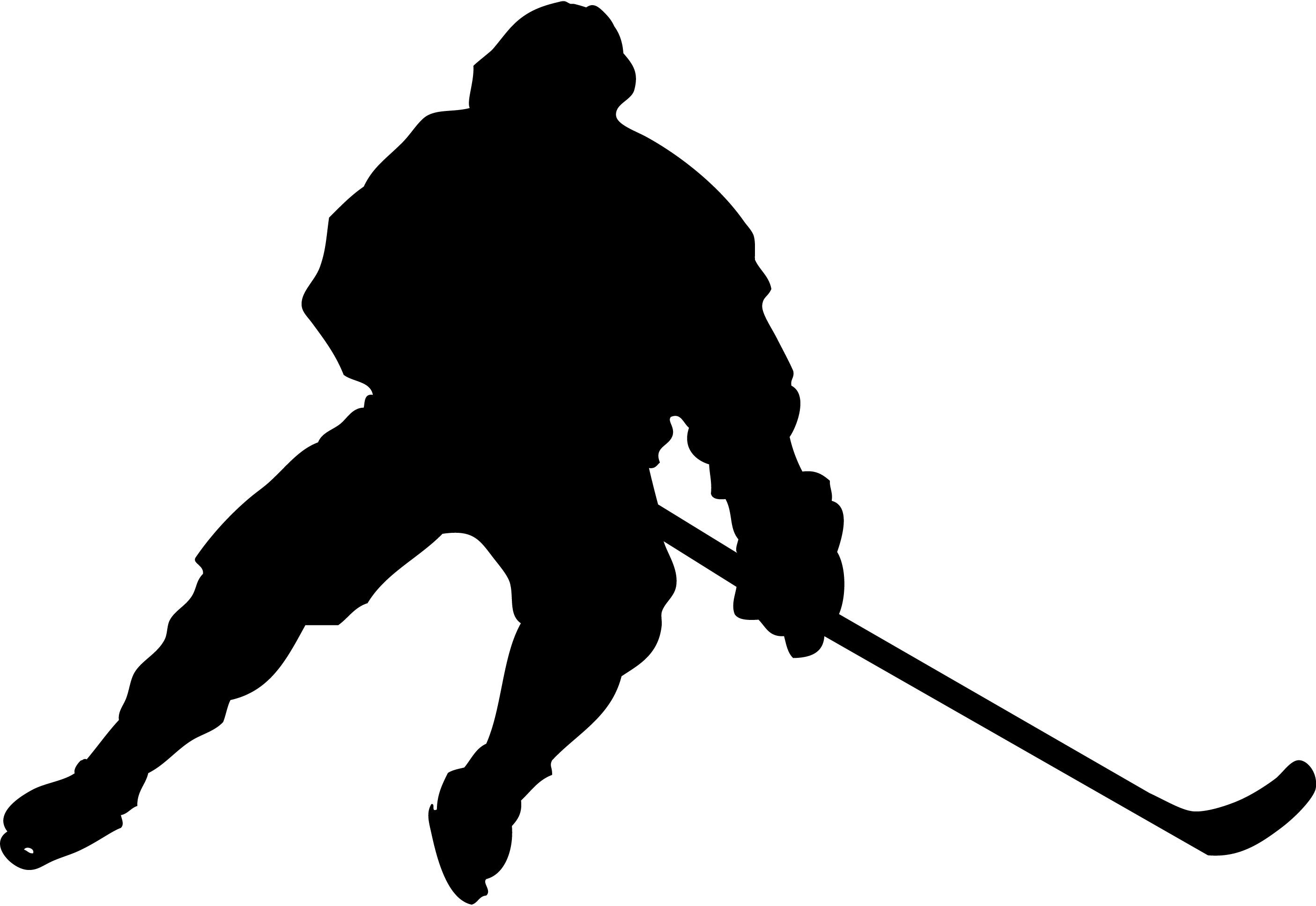Clip art clipartbarn . Hockey clipart silhouette