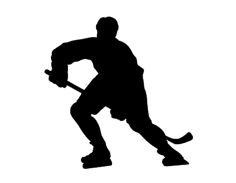 Hockey clipart silhouette. Download player ice clip