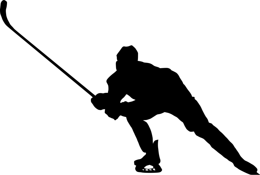 Hockey clipart silhouette. Png free images toppng