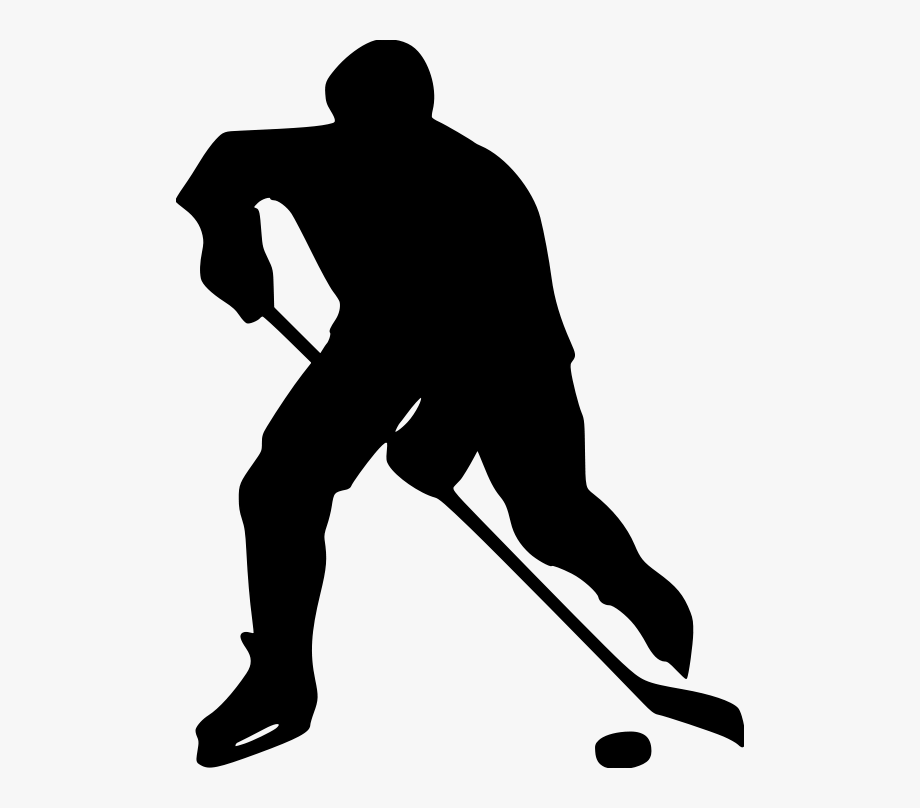 Player png of ice. Hockey clipart silhouette