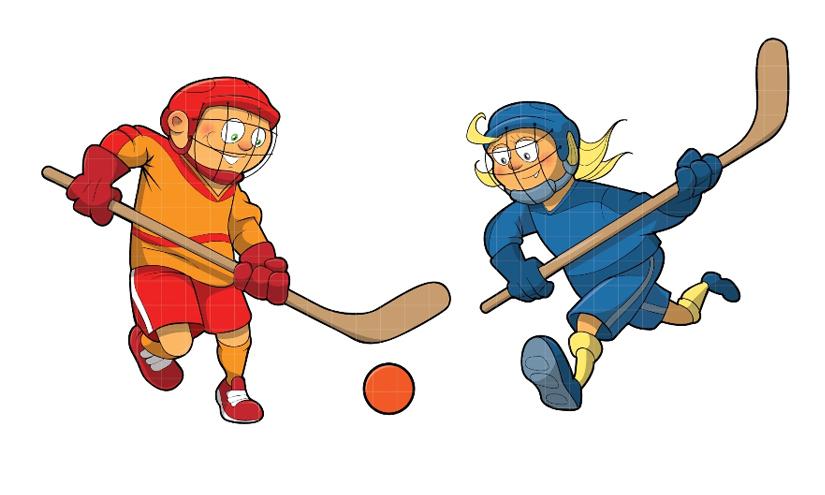 . Hockey clipart street hockey