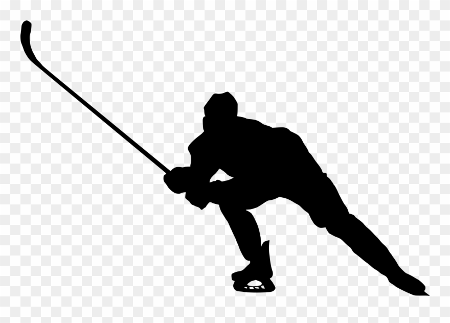 Player silhouette clip art. Hockey clipart transparent background