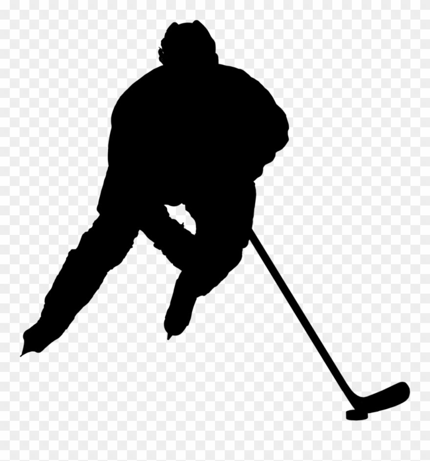 Hockey clipart transparent background. Silhouette