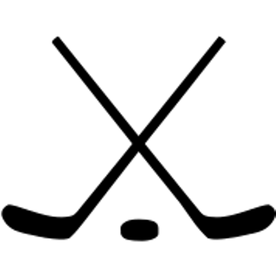Crossed ice sticks and. Hockey clipart transparent background
