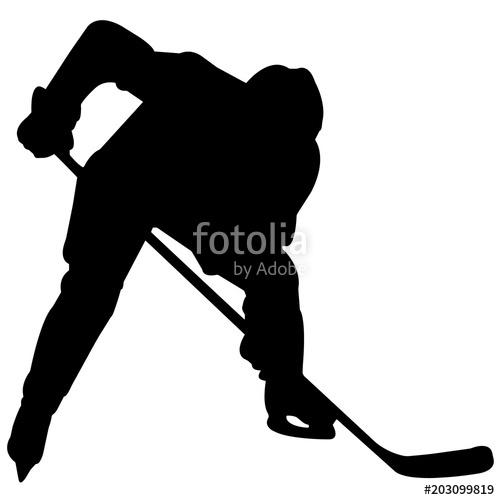 Ice silhouette player goalie. Hockey clipart vector