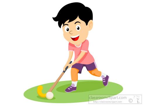 Hockey clipart. Child playing field childplayingfieldhockeyclipartjpg