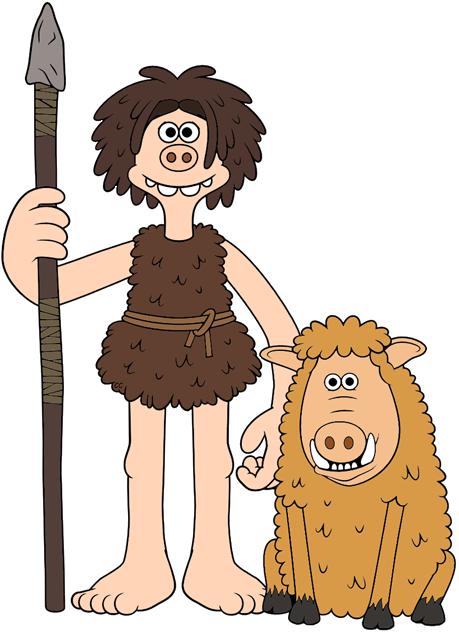 Hog clipart. Early man clip art