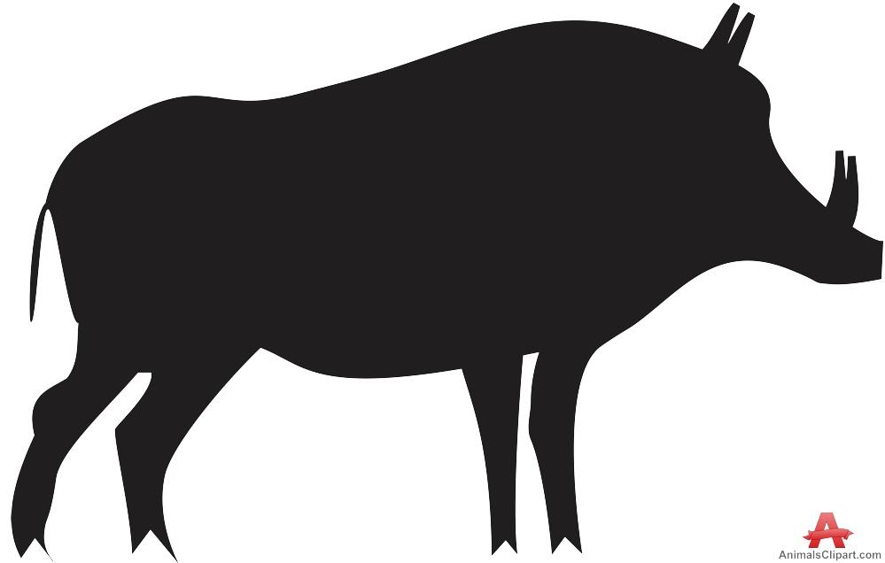 Hog clipart. Pig silhouette free design