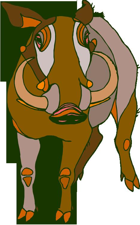 Free warthog. Woodland clipart porcupine